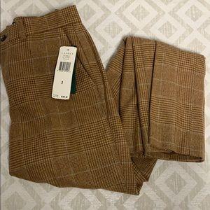 Ralph Lauren Tweed Straight Leg Trousers